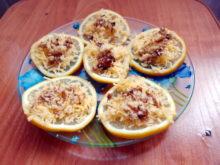 Лимон с сыром и грецкими орехами