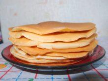 Бисквитные блины