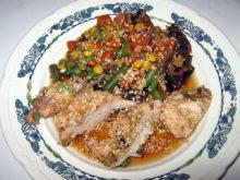 Курица с овощами и грибами по-восточному
