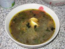 Грибной суп с клёцками