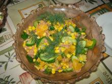 Салат с апельсинами и тунцом