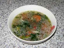 Куриный суп с овощной смесью
