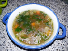 Куриный суп с овощами и гречкой
