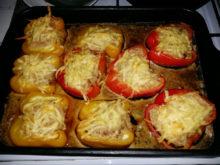 Фаршированный болгарский перец под сыром