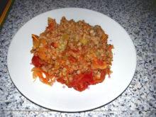 Гречка с овощами в горшочке