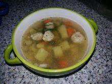 Острый гречневый суп с фрикадельками