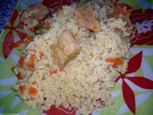 Рис со свининой в горшочке
