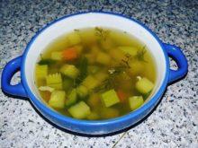 Суп из стерляди с кабачками