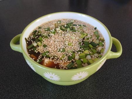 Мисо суп с рисовой лапшой