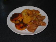Картофель со свининой в томатном соке