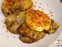 Картофель с мясом, апельсинами и помидорами