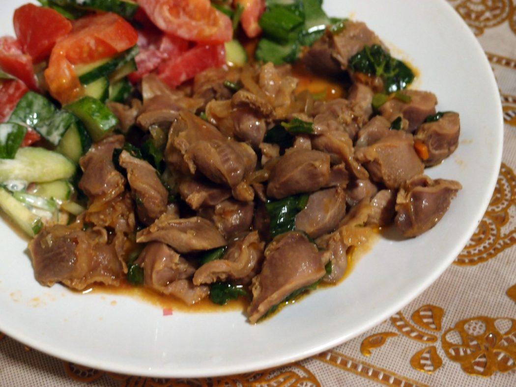 Куриные желудки по-армянски