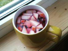 Чай из винограда с яблоками