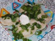 Вареники с картошкой и мясом (заварное тесто)