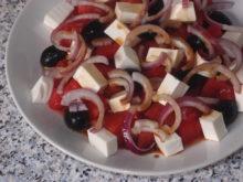 Салат с фетой и арбузом