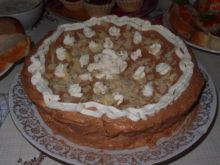 Торт с шоколадным кремом и бананами