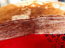 Блинный торт с домашней нутеллой