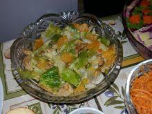 Салат с индейкой и мандаринами