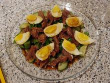 Салат с говядиной и черемшой