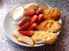 Печеные сырники на фруктозе
