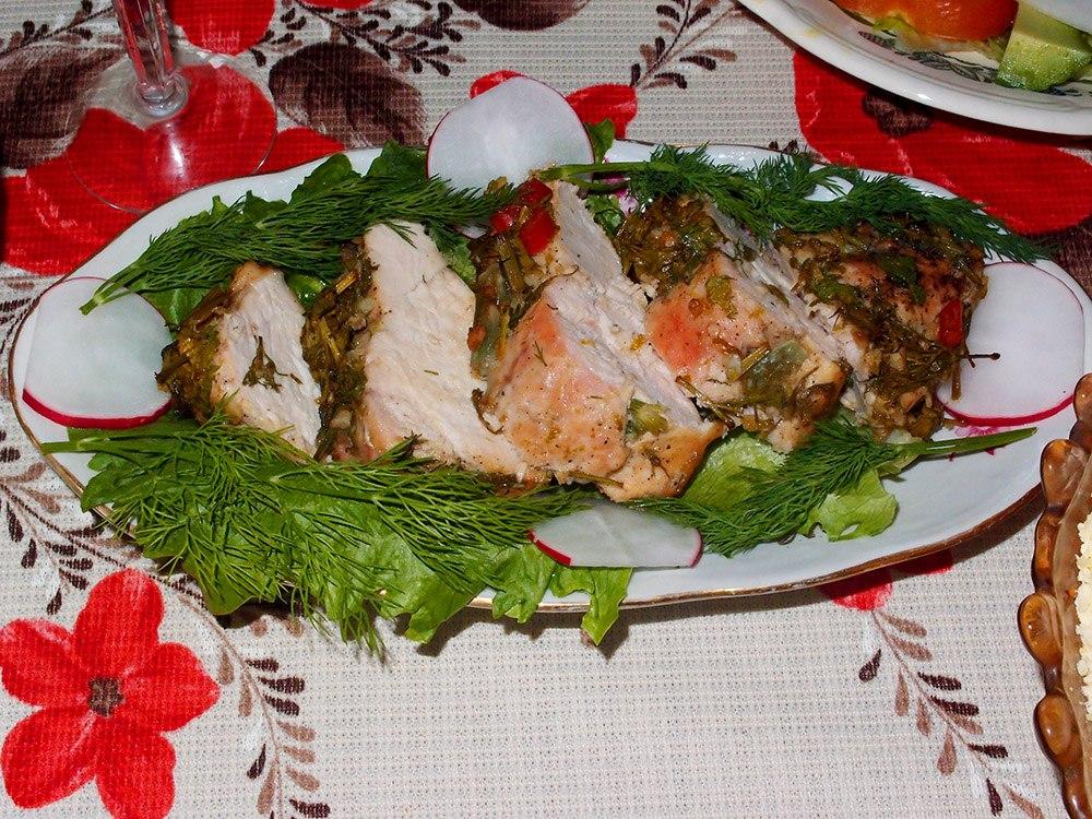 Куриная грудка  с лаймом и перцем чили