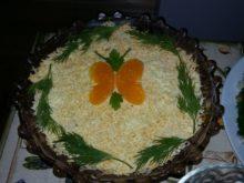 Салат «Мимоза» с тунцом и сыром