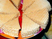 Вафельный торт со сгущенкой