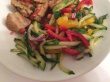 Овощной салат с мятой