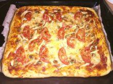Пицца с оливками и куриным филе