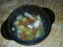 Суп с корюшкой