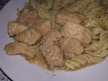 Индейка со сметаной и соевым соусом